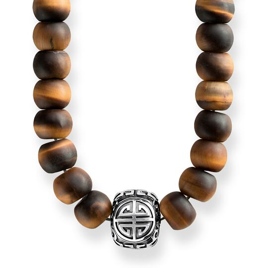 power necklace ethno brown from the Rebel at heart collection in the THOMAS SABO online store