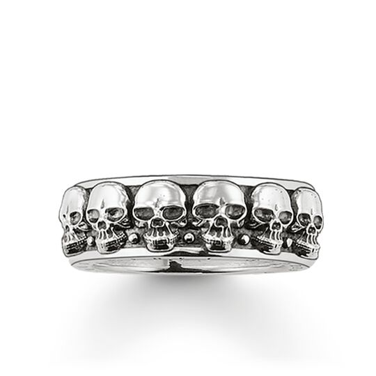 "ring ""skulls"" from the Rebel at heart collection in the THOMAS SABO online store"