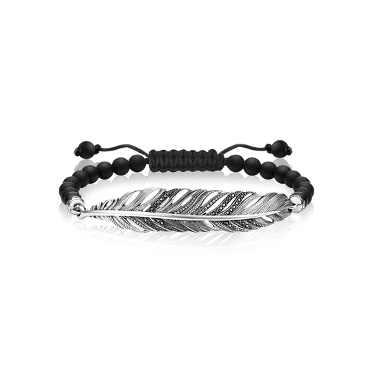 bracelet feather from the Love Bridge collection in the THOMAS SABO online store