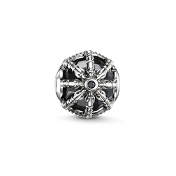 Bead black Karma Wheel from the Karma Beads collection in the THOMAS SABO online store
