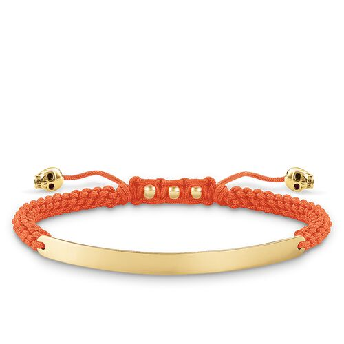 "bracelet ""orange skull"" from the Love Bridge collection in the THOMAS SABO online store"