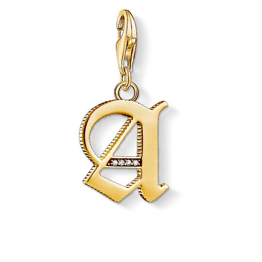 Charm pendant letter A gold from the Charm Club collection in the THOMAS SABO online store