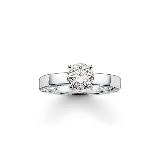 solitaire ring from the  collection in the THOMAS SABO online store