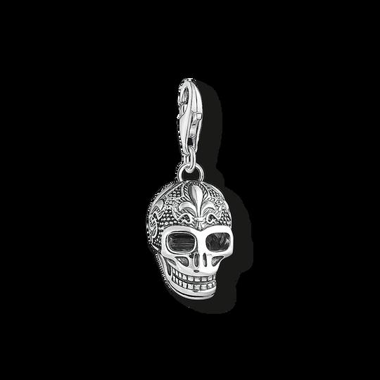 pendentif Charm tête de mort avec lys de la collection Charm Club dans la boutique en ligne de THOMAS SABO