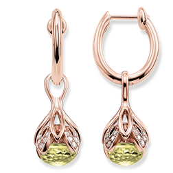 hoop earrings green Lotos blossom from the Glam & Soul collection in the THOMAS SABO online store