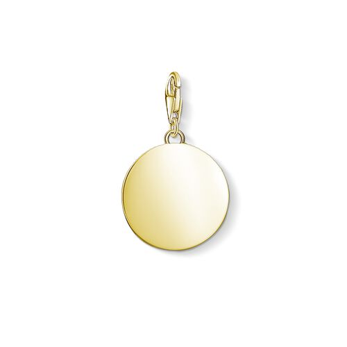 """Charm pendant """"disc gold"""" from the  collection in the THOMAS SABO online store"""