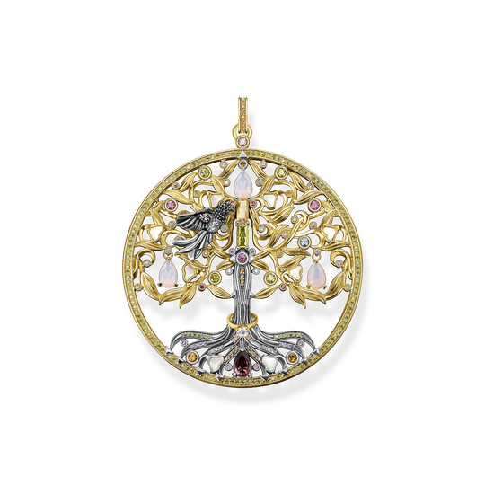 Pendant tree of love gold raven from the Glam & Soul collection in the THOMAS SABO online store