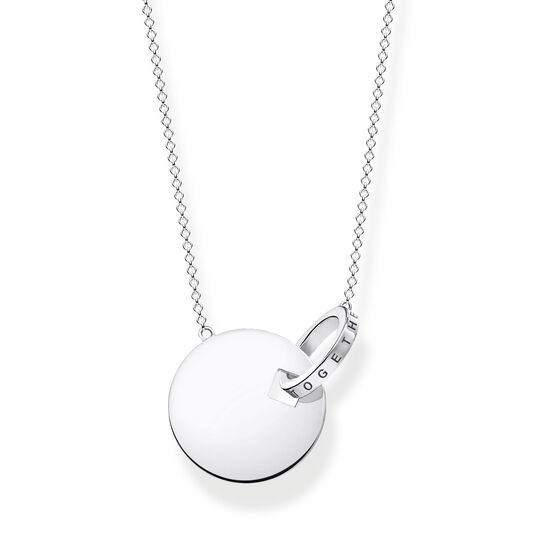 necklace Together coin with silver-coloured ring from the  collection in the THOMAS SABO online store