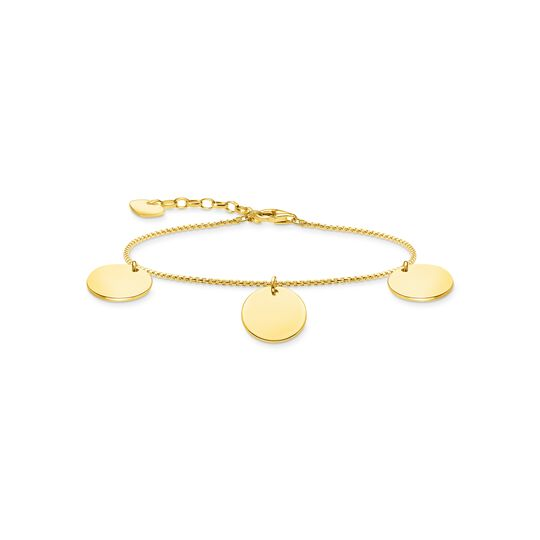 Bracelet with three discs gold from the  collection in the THOMAS SABO online store