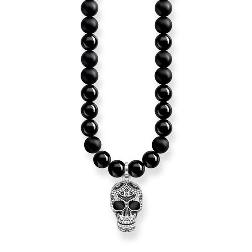 """necklace """"Power Necklace Maori Skull Pavé"""" from the Rebel at heart collection in the THOMAS SABO online store"""