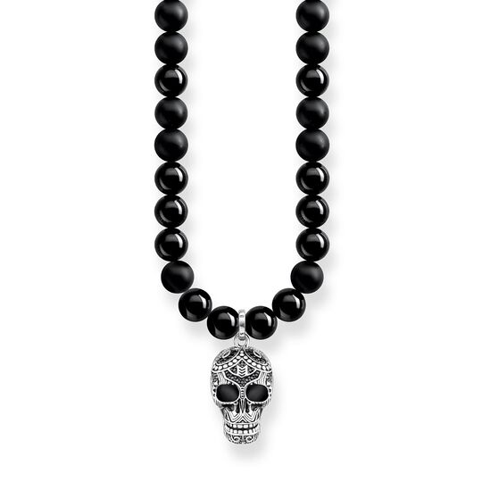"necklace ""Power Necklace Maori Skull Pavé"" from the Rebel at heart collection in the THOMAS SABO online store"