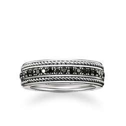 "bague Eternity ""diamants noirs"" de la collection Rebel at heart dans la boutique en ligne de THOMAS SABO"