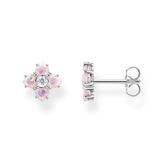 Ear studs flower silver with stones from the Glam & Soul collection in the THOMAS SABO online store