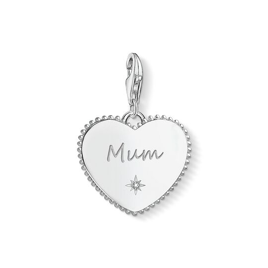 Charm pendant Heart mum silver from the Charm Club collection in the THOMAS SABO online store