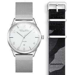 SET CODE TS weiße Uhr & camouflage Armband aus der  Kollektion im Online Shop von THOMAS SABO