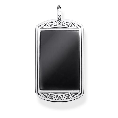 "ciondolo ""dog tag"" from the Rebel at heart collection in the THOMAS SABO online store"
