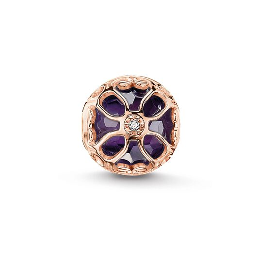Bead purple lotus flower from the Karma Beads collection in the THOMAS SABO online store