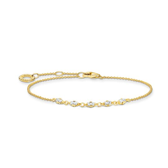 Bracelet vintage white stones gold from the Charming Collection collection in the THOMAS SABO online store