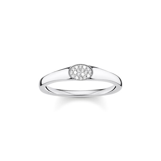 Ring white stones, silver from the Charming Collection collection in the THOMAS SABO online store