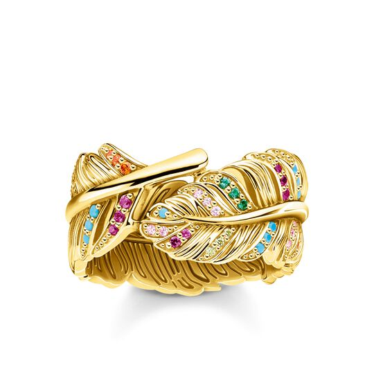 ring feather gold from the Glam & Soul collection in the THOMAS SABO online store