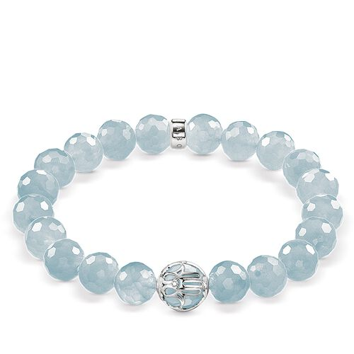 """bracelet """"light-blue lotus flower"""" from the Glam & Soul collection in the THOMAS SABO online store"""