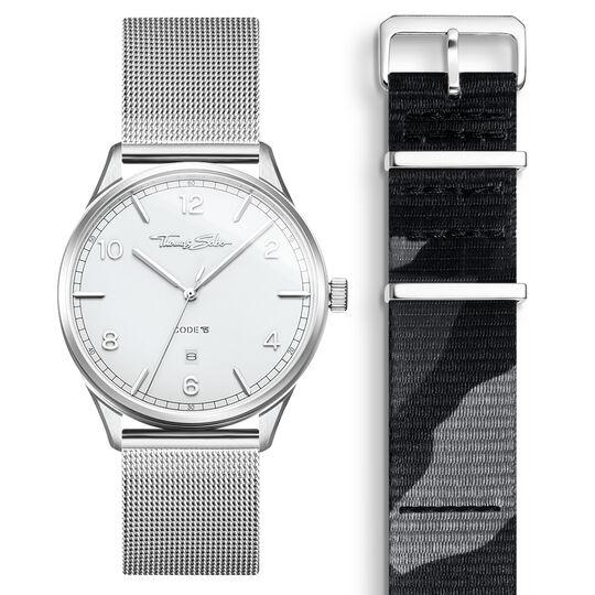 SET CODE TS Reloj blanco & correa camuflaje de la colección  en la tienda online de THOMAS SABO