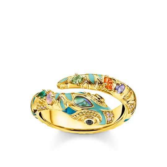 ring bright golden-coloured snake from the Glam & Soul collection in the THOMAS SABO online store