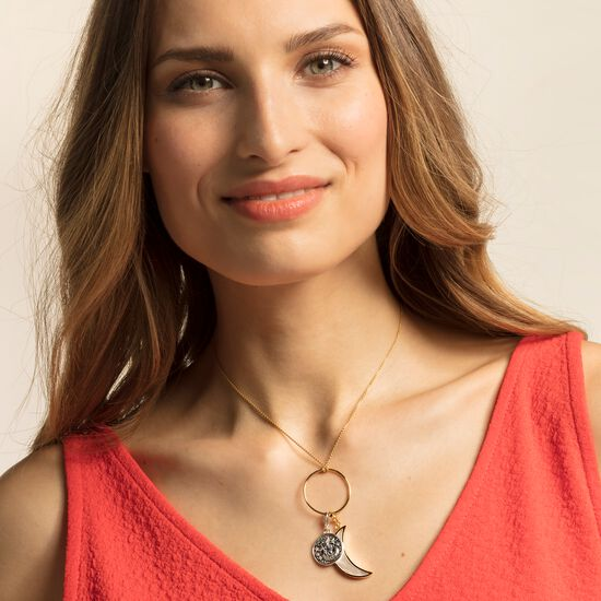 "Charm pendant ""Moon mother-of-pearl"" from the  collection in the THOMAS SABO online store"