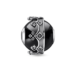 bead crown black from the Karma Beads collection in the THOMAS SABO online store