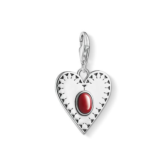 Charm pendant Heart red stone from the Charm Club collection in the THOMAS SABO online store
