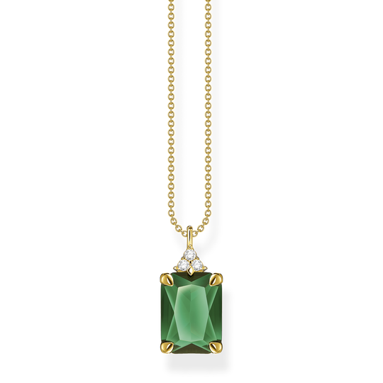 Necklace green stone gold from the Glam & Soul collection in the THOMAS SABO online store