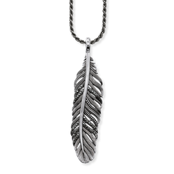 "necklace ""feather"" from the Rebel at heart collection in the THOMAS SABO online store"
