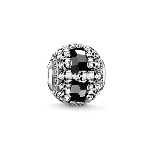 Bead black skulls from the Karma Beads collection in the THOMAS SABO online store