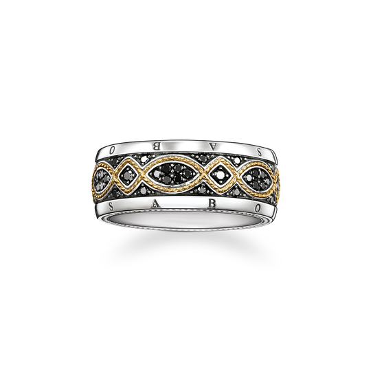 bague ruban Love Knot avec diamants de la collection Rebel at heart dans la boutique en ligne de THOMAS SABO