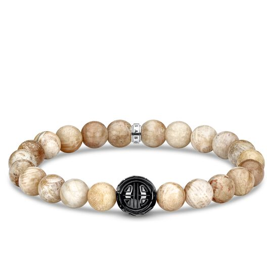 bracelet beige from the Rebel at heart collection in the THOMAS SABO online store