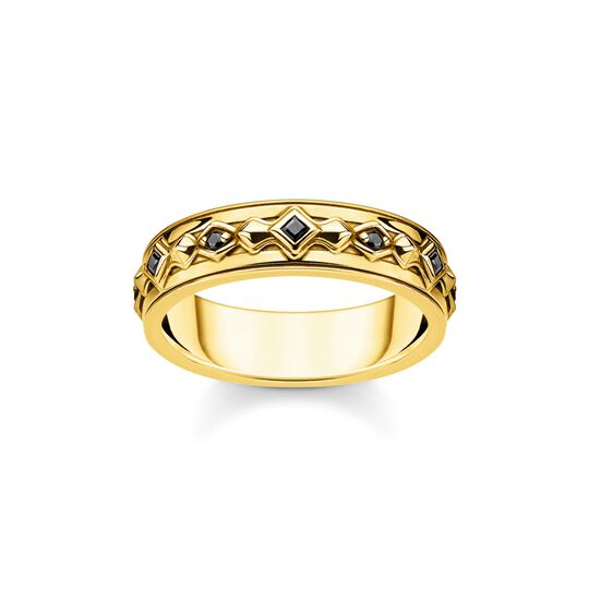 Ring black stones gold from the  collection in the THOMAS SABO online store