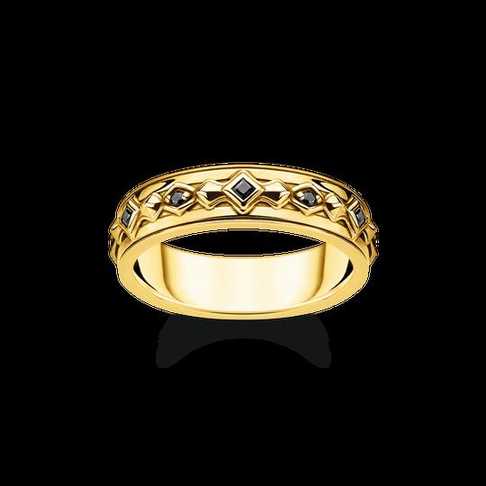 Ring schwarze Steine gold aus der Rebel at heart Kollektion im Online Shop von THOMAS SABO