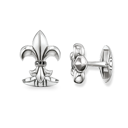 "cufflinks ""diamond lily"" from the Rebel at heart collection in the THOMAS SABO online store"