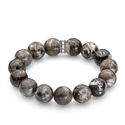 "bracelet ""Power Bracelet grey"" from the Rebel at heart collection in the THOMAS SABO online store"
