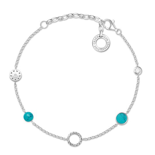 """Charm bracelet """"turquoise Stones"""" from the  collection in the THOMAS SABO online store"""