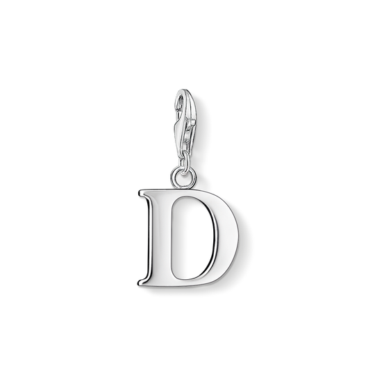 Charm pendant letter D from the Charm Club collection in the THOMAS SABO online store