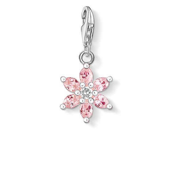 """Charm pendant """"pink flower"""" from the  collection in the THOMAS SABO online store"""