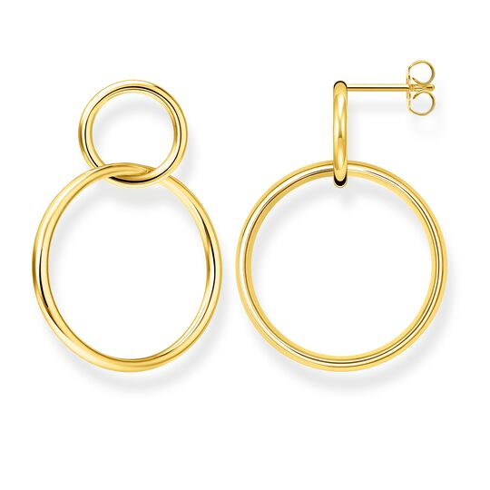earrings circles gold from the Glam & Soul collection in the THOMAS SABO online store