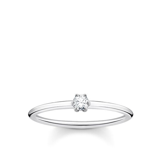Ring white stone silver from the Charming Collection collection in the THOMAS SABO online store