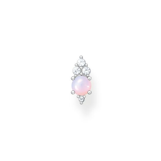 Single ear stud vintage shimmering pink opal-coloured stone from the Charming Collection collection in the THOMAS SABO online store