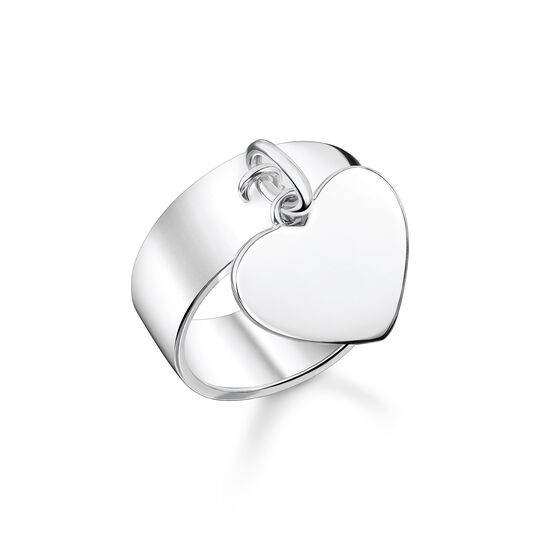 Ring with heart silver from the  collection in the THOMAS SABO online store