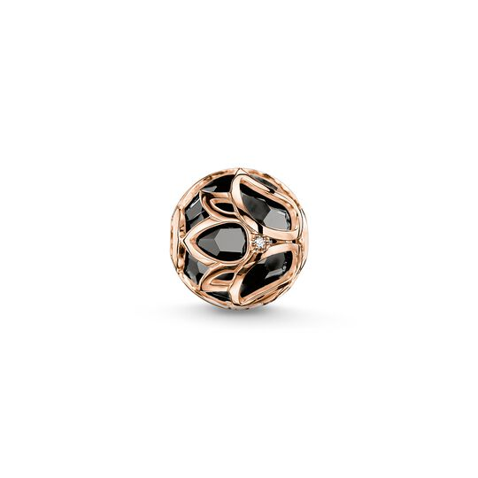 Bead black lotus flower from the Karma Beads collection in the THOMAS SABO online store
