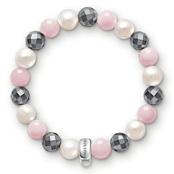 "Charm bracelet ""pink, white, grey"" from the  collection in the THOMAS SABO online store"