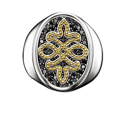 "signet ring ""diamond Love Knot"" from the Rebel at heart collection in the THOMAS SABO online store"