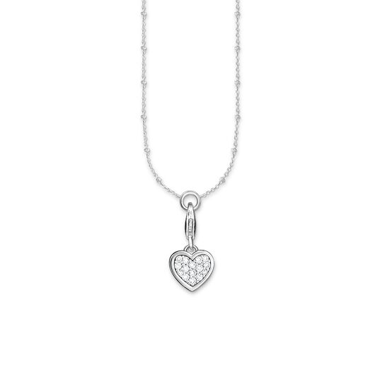 Charm necklace pink heart glitter from the Charm Club collection in the THOMAS SABO online store